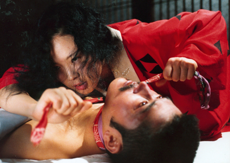 Actors Tatsuya Fuji and Eiko Matsuda in Nagisa Oshima's controversial