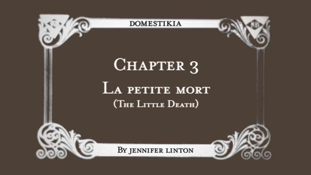 Domestikia: The Little Death, work-in-progress images.  (1/6)