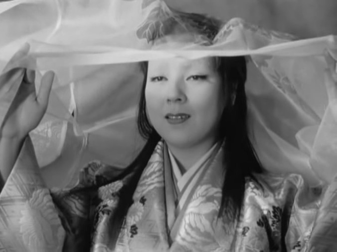 "Film still from ""Ugetsu Monogatari"" (1958)."
