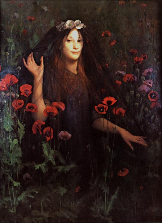 """Death the Bride"" by Thomas Cooper Gotch. 1895. Oil on canvas"