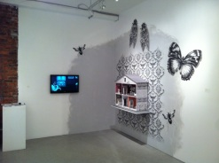 """Documentation of my work in the group show """"Blueprints"""" At Centre 3 for Print and Media Arts, Hamilton."""