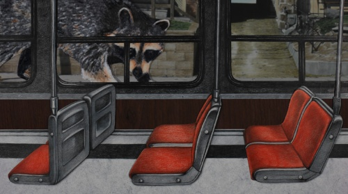 "Work-in-progress photo from my animation project ""Toronto Alice"" (ETA Spring 2015)."