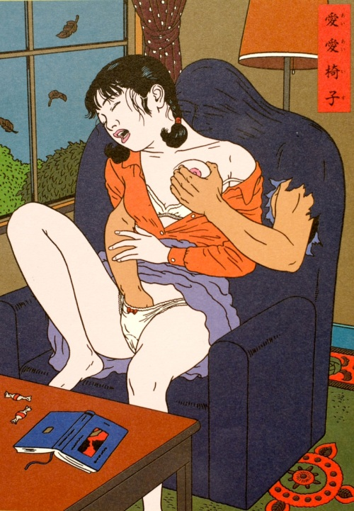 """Toshio Saeki, being the 'Godfather of Japanese Erotica"""", adds a predictably erotic slant to his interpretation of Rampo's"""