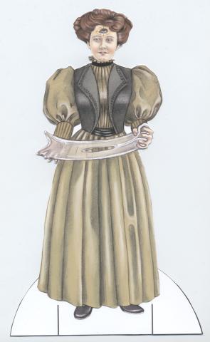 spiritualist ectoplasm dress